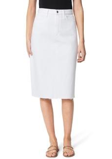 Joe's Jeans A-Line Cut-Hem Denim Skirt