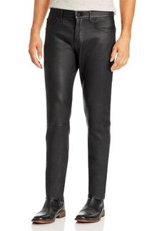 Joe's Jeans Asher Slim Fit Lamb Leather Pants in Jet Black