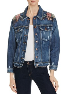 Joe's Jeans Bella Floral Embroidered Denim Jacket