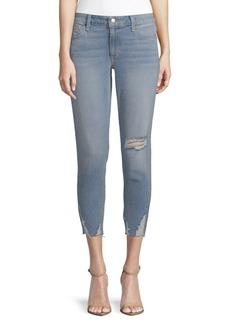 Billie Crop Destructed Jeans