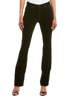 Joe's Jeans Black Velvet High-Rise Flare Leg