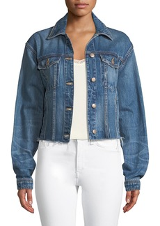 Joe's Jeans Button-Front Cutoff Denim Jacket