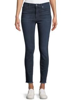 Joe's Jeans Charlie Frayed-Ankle Skinny-Leg Jeans
