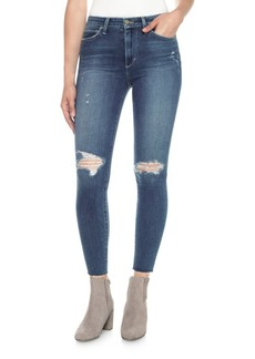 Joe's Jeans Charlie High-Rise Distressed Ankle Skinny Jeans