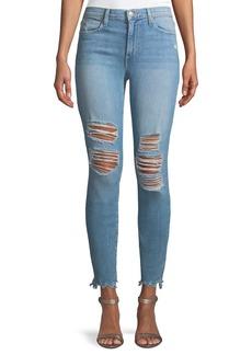 Joe's Jeans Charlie Mid-Rise Distressed Skinny-Leg Ankle Jeans