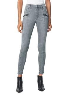 Joe's Jeans Charlie Moto Zip Ankle Jeans in Sweet Thing