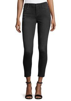 Joe's Jeans Cropped Cutoff Whiskering Skinny Denim Jeans