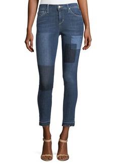 Joe's Jeans Cropped Patchwork Denim Jeans