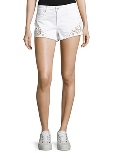 Joe's Jeans Cutoff Eyelet Denim Jean Shorts