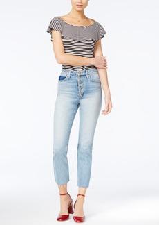 Joe's Jeans Debbie Cropped Button-Fly Jeans