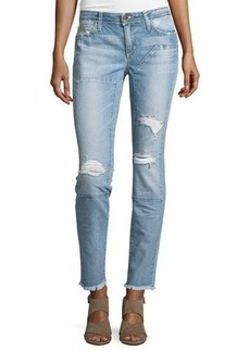 Joe's Jeans Distressed Skinny Jeans W/Patches