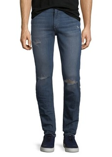 Joe's Jeans Distressed Slim-Fit Straight-Leg Jeans