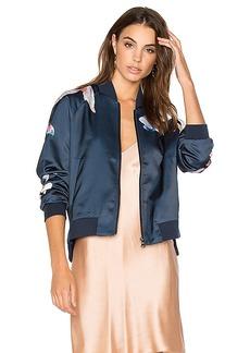 Joe's Jeans Elsie Bomber Jacket in Blue. - size M (also in L,S)