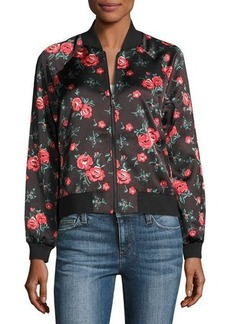 Joe's Jeans Elsie Watercolor Floral Bomber Jacket