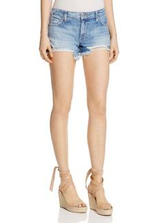 Joe's Jeans Embroidered Denim Cutoff Shorts
