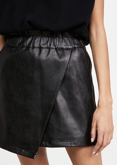 Joe's Jeans Faux Leather Wrap Mini Skirt