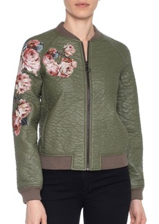 Joe's Jeans Joe's Forest Faux Leather Bomber Jacket