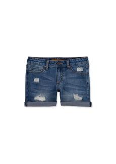 Joe's Jeans Girls' The Markie Mid-Rise Roll-Cuff Denim Shorts - Little Kid