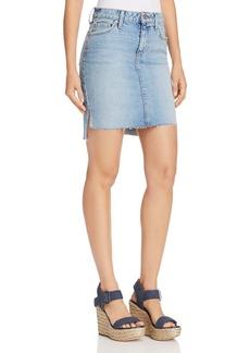 Joe's Jeans High/Low Denim Skirt in Shawny