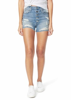 Joe's Jeans Kinsley Shorts Exposed Button Fly Fray Hem in