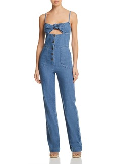 Joe's Jeans Lucia Denim Jumpsuit in Medium Indigo
