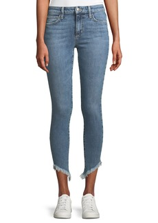 Joe's Jeans Marcela Icon Ankle Skinny Jeans with Diagonal Fray Hem
