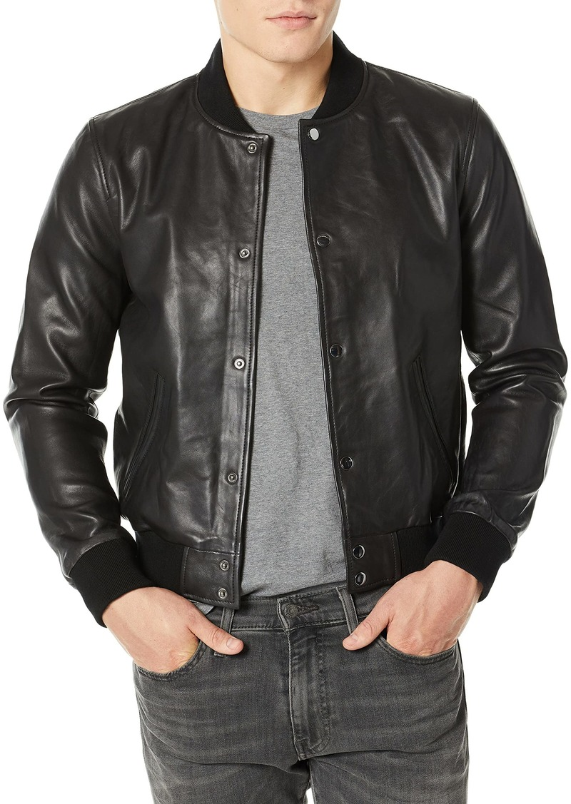 Joe's Jeans Men's Raffi Leather Bomber  M