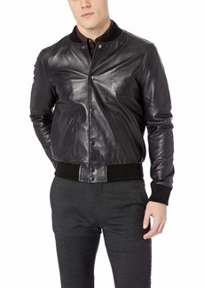 Joe's Jeans Men's Raffi Leather Bomber  XL