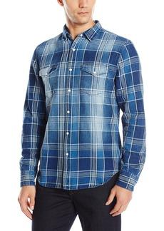 Joe's Jeans Men's Ralston Idigo Plaid Button Down Shirt  XL