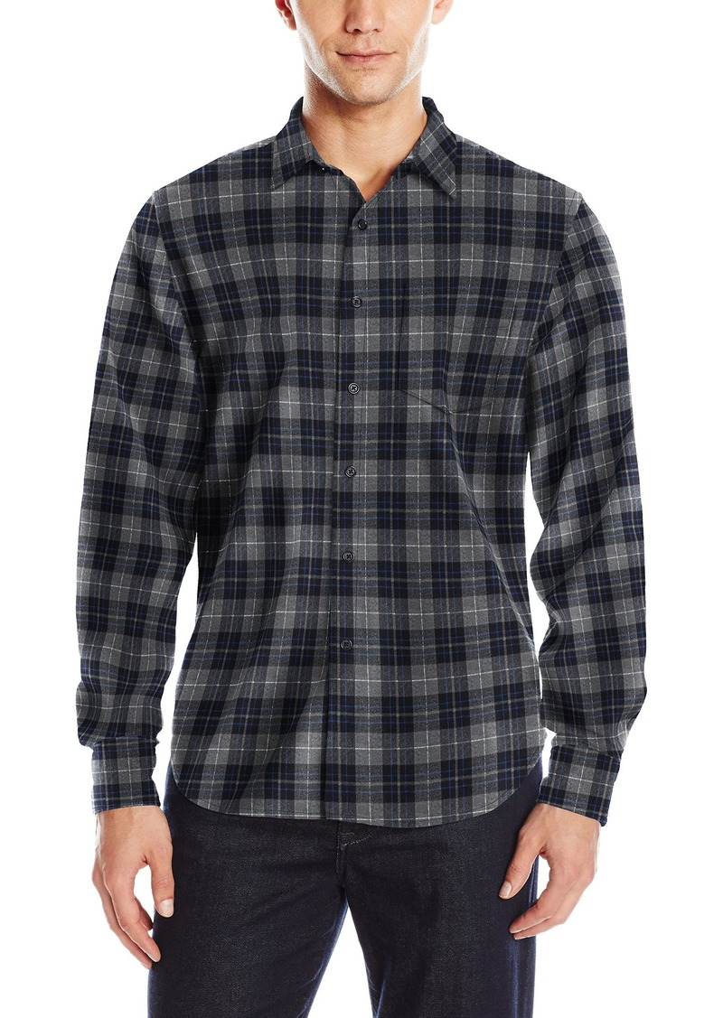 Joe's Jeans Men's Relaxed Orimono Plaid Button Down Shirt Grey/Black L