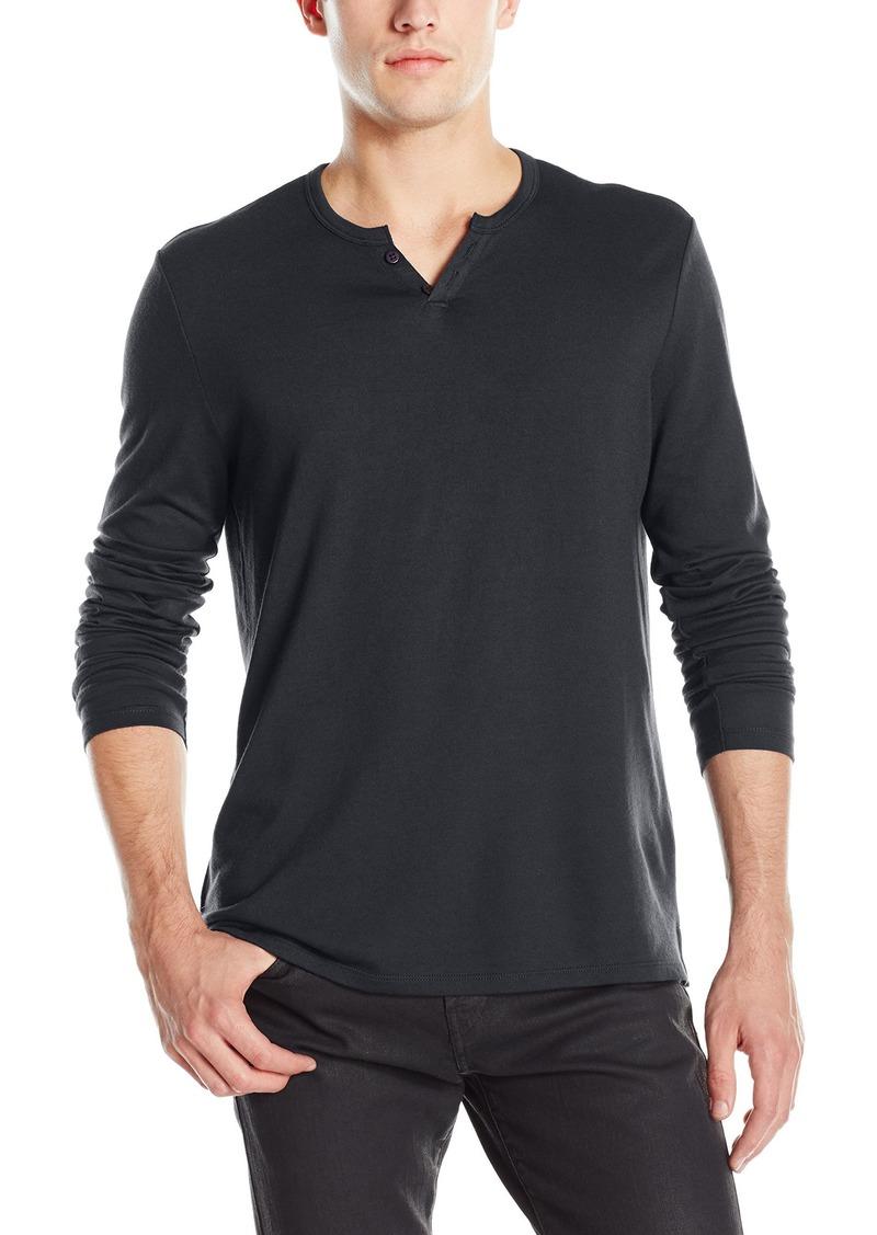 Joe's Jeans Men's Wintz Long Sleeve Luxe Solid Henley Shirt  XXL