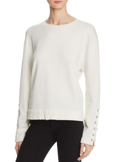 Joe's Jeans Miaya Lace-Up Sleeve Sweatshirt