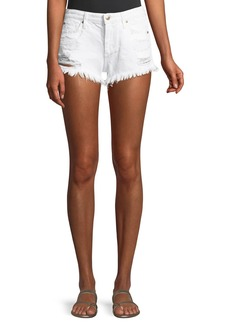 Joe's Jeans Mid-Rise Distressed Denim Cutoff Shorts