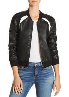 Joe's Jeans Paola Faux-Leather Bomber Jacket
