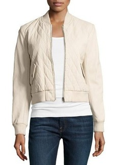 Joe's Jeans Quilted Leather Bomber Jacket