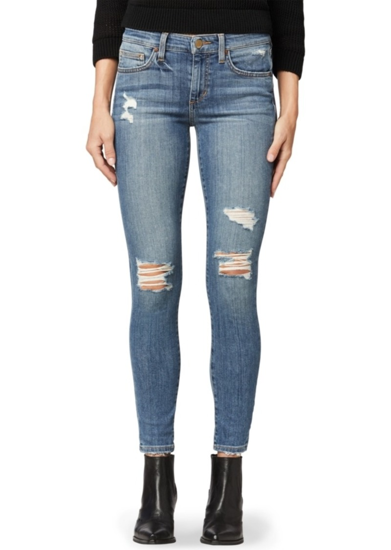 Joe's Jeans Ripped Ankle Skinny Jeans