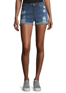 Joe's Jeans Rolled-Cuff Distressed Denim Shorts