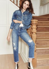 Joe's Jeans Smith Rhinestone Crop Boyfriend Jeans (Cyndi)