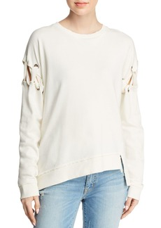 Joe's Jeans The Alice Laced-Sleeve Sweatshirt
