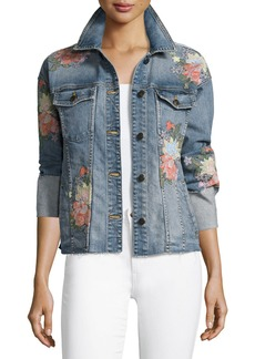 Joe's Jeans The Belize Floral Embroidered Denim Jacket