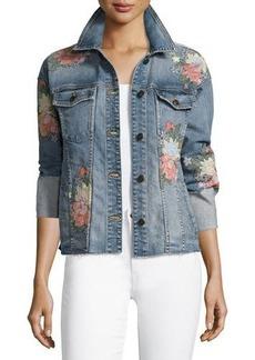 Joe's Jeans The Belize Floral Embroidered Denim Jacket