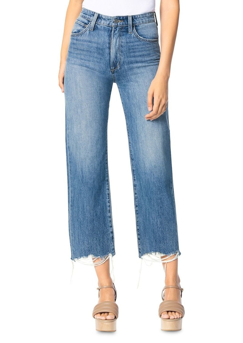 Joe's Jeans The Blake Cotton Cropped Frayed Jeans in Groove