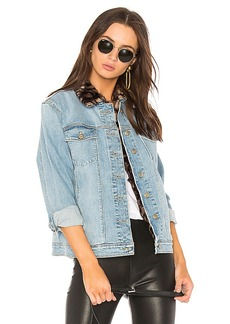 Joe's Jeans The Boyfriend Jacket with Faux Fur Collar. - size L (also in M,S,XS)