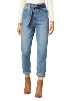 Joe's Jeans The Brinkley Belted Cropped Straight Leg Jeans in Alone Together