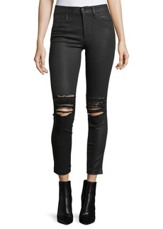 Joe's Jeans The Charlie Ankle Coated Pants w/ Distressing