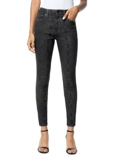 Joe's Jeans The Charlie Ankle Skinny Jeans in Black Snake