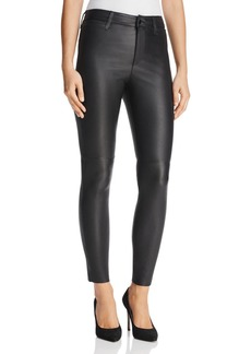 Joe's Jeans The Charlie Ankle Skinny Jeans in Veruca Black Leather