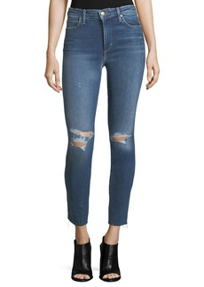 Joe's Jeans The Charlie High-Rise Distressed Ankle Skinny Jeans