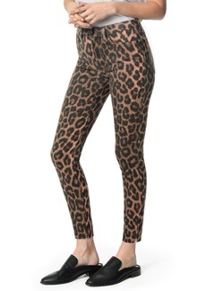 Joe's Jeans The Charlie Leopard-Print Raw-Hem Skinny Jeans