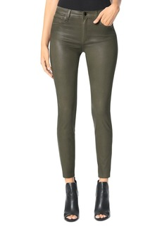 Joe's Jeans The Charlie Skinny Coated Ankle Jeans in Autumn Sage